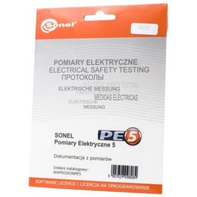 Program SONEL Pomiary Elektryczne 5