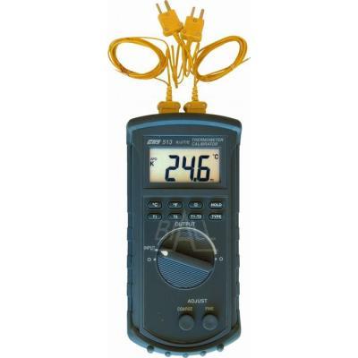 CHY513 Termometr-kalibrator 2kan. do sond K/J/T/E CHY