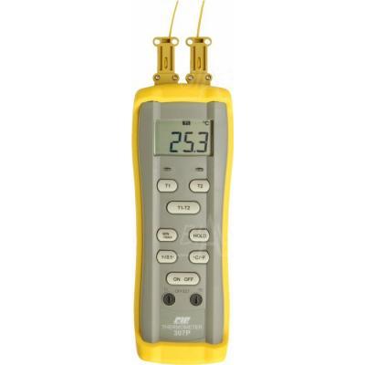 CIE307P Termometr prec. 2 kan. (2 sondy K) CIE