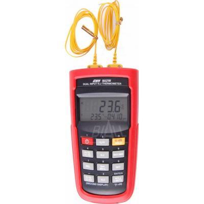 CHY802W Termometr 5c,2 kan.K/J + odczyt zdalny USB CHY
