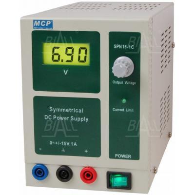 Zasilacz lab symetryczny SPN15-1C +15V/-15V/1A DC MCP
