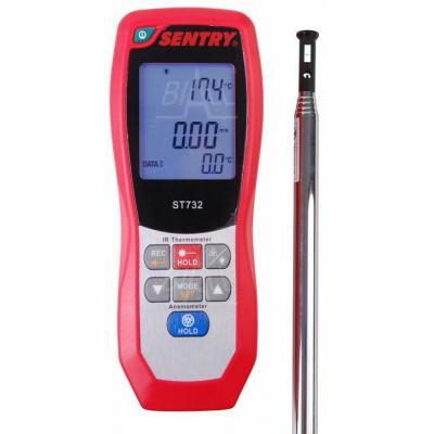 ST732 Anemometr HOT WIRE i pirometr,temp,USB SENTRY