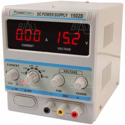 Zasilacz serwisowy 1502D 15V/2A DC LED PowerLab