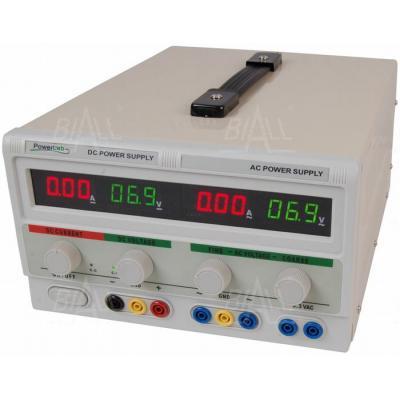 Zasilacz lab 30V/5A DC , 30V/2A 6,3V/6A AC LED PowerLab